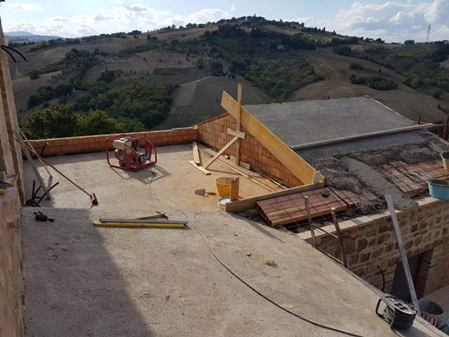 Cement for Roof on Top of Poroton