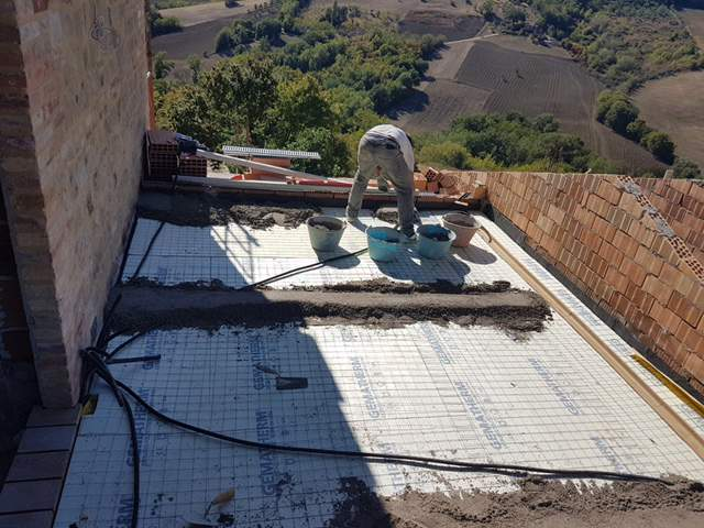 Concrete for the Terrazza Floor