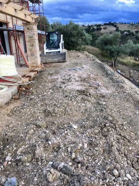 Level Area Behind House
