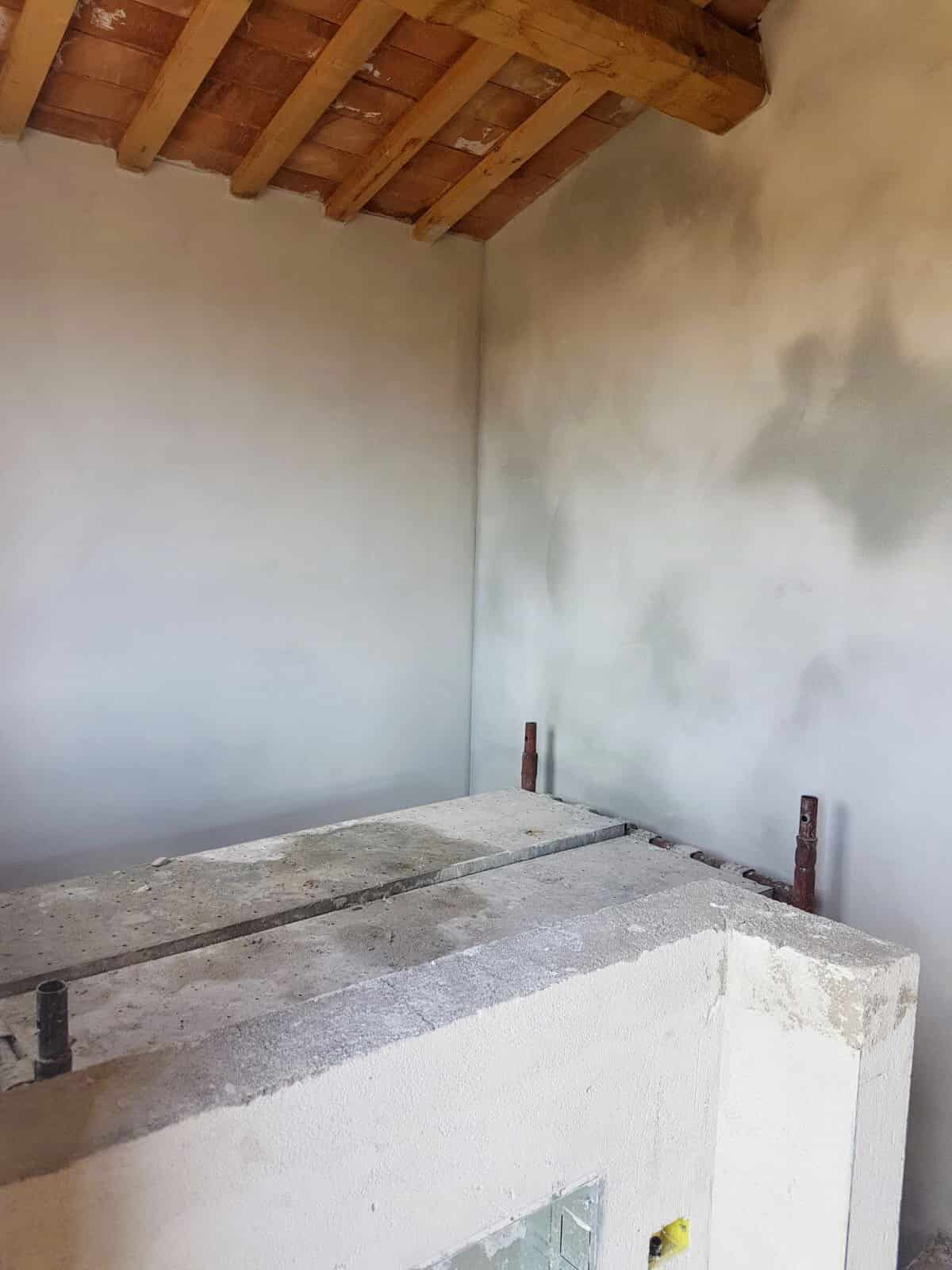 Plaster at Top of Stairs