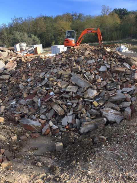 Rubble to Backfill Retaining Wall