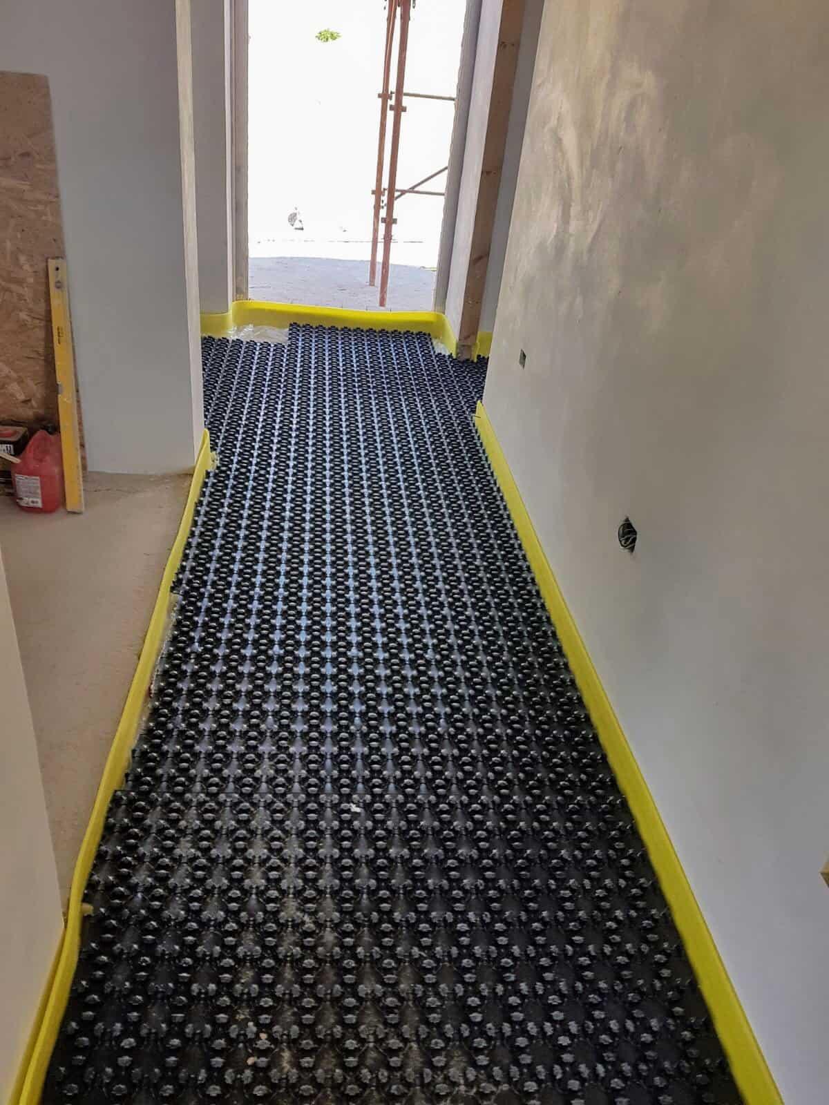 Underfloor Heating Base Layer in Main Hall