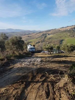 View From Site of new house construction in Le Marche