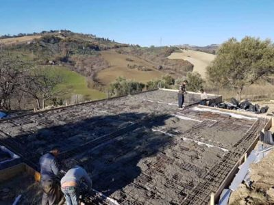 More Concrete at new house construction in Le Marche