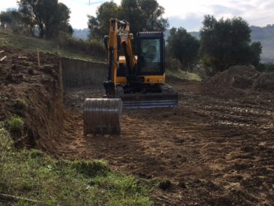 Excavation 5 Showing Slope on site of new construction in Le Marche
