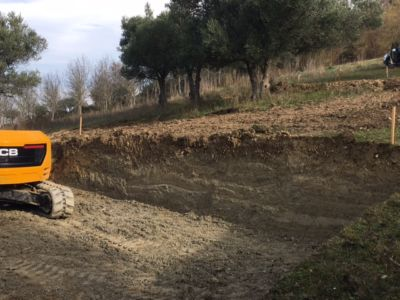 Excavation 2 on site of new construction in Le Marche