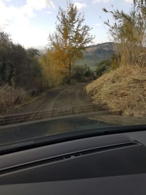Access road 3 on site of new construction in Le Marche