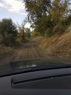 Access road 4 on site of new construction in Le Marche