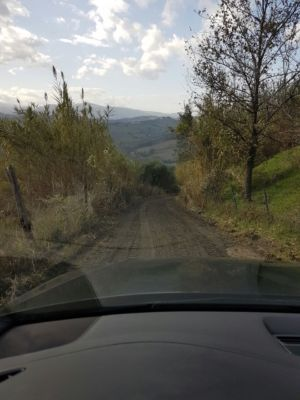 Access road 5 on site of new construction in Le Marche