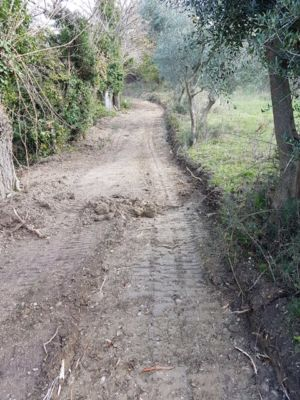 More grading was needed here on site of new construction in Le Marche
