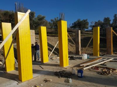 Another Row of Forms at new house construction site in Le Marche