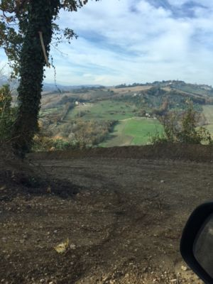 Coming Down the Road 3  on site of new construction in Le Marche