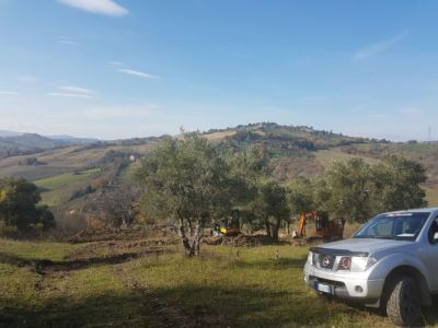 Site Overview on site of new construction in Le Marche
