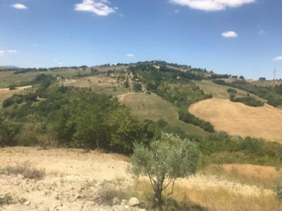 Across the Valley from a new house being built in Le Marche Italy
