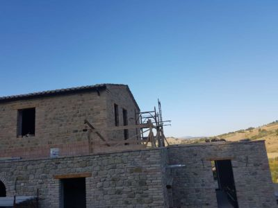 Bad View of Roof Underlay at a new house in Le Marche