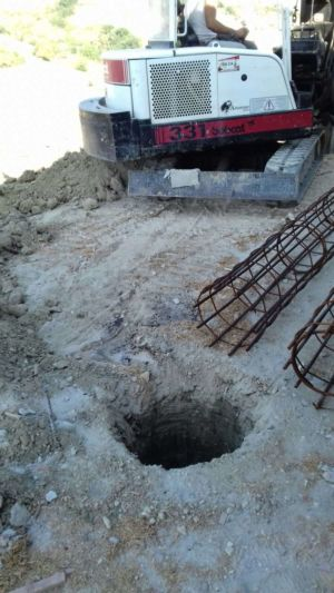 Bore Ready for Support Steel at a new house in Le Marche