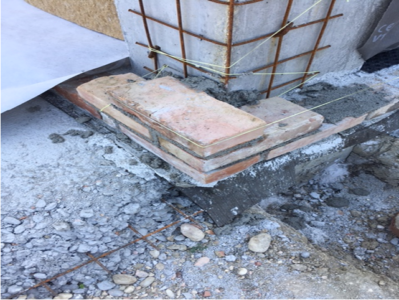 Brick Corner Started on a new stone house in Le Marche