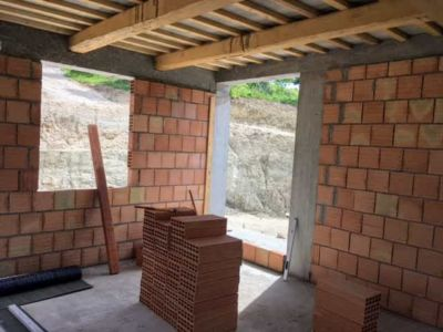 Corner of the Study of new house being constructed near Macerata, Le Marche