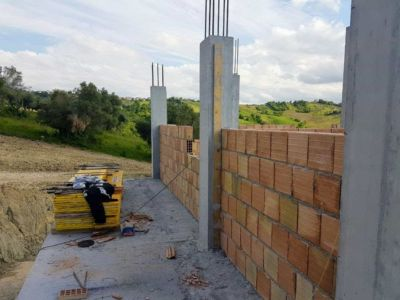 Front of Top Floor of a new house being built in Le Marche