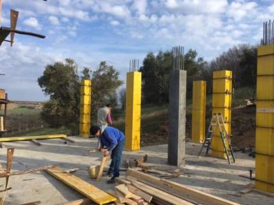 More Forms Being Removed at new house construction site in Le Marche