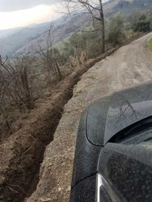 Access Road Regraded at new house construction site in Le Marche