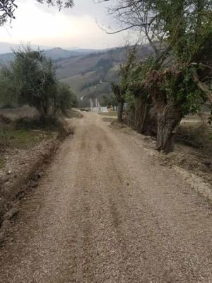 Driveway Regraded at new house construction site in Le Marche