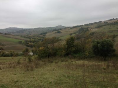 Lower end of property on site of new construction in Le Marche