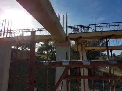 Beam in Place at a new house construction site in Le Marche
