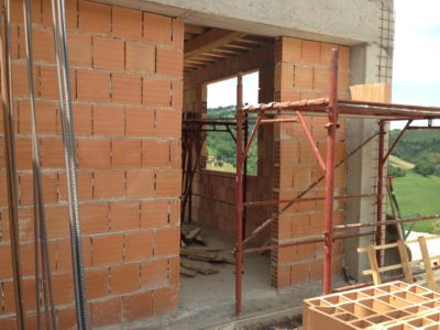 In Front of the Kitchen of a new house being built in Le Marche, Italy
