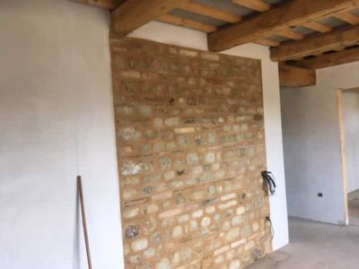 Interior Stone Wall Grouted
