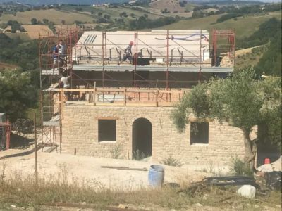 A view of our new house under construction in Le Marche