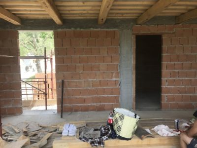 Kitchen Door and Laundry Door of a new house being built in Le Marche, Italy