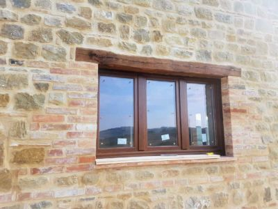 Kitchen Window of a new house in Le Marche