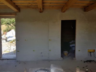 Kitchen and Utility Door Openings  of a new house being built in Le Marche