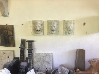 Lions for Faucets for stone accent pieces for a new house in Le Marche
