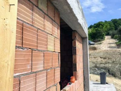 Looking Up the Driveway of new house being constructed near Macerata, Le Marche