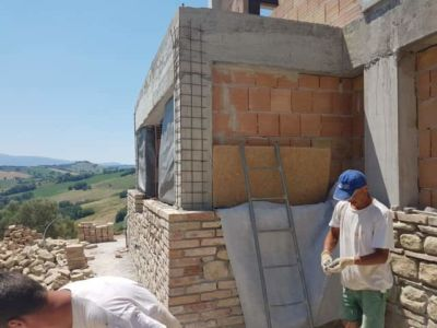 Looking West from a new stone house in Le Marche