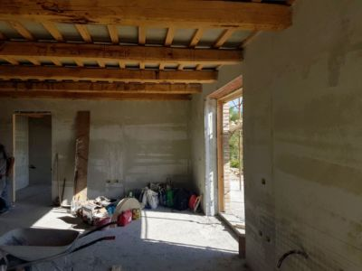 Main Room of a new house being built in Le Marche