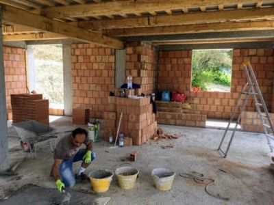 Master Bath and Study of new house being constructed near Macerata, Le Marche