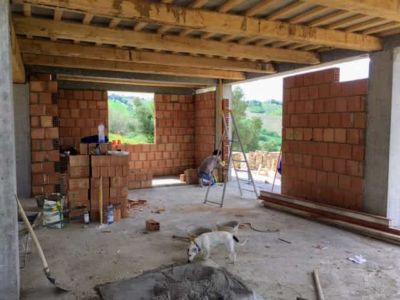 Master Bedroom Corner of new house being constructed near Macerata, Le Marche