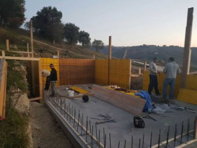 More Progress On The Forms for a pool in Le Marche