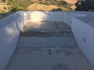 New Pool Base Poured at a new house in Le Marche