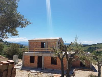 Our Reinforced Concrete Structure is Complete of a house under construction in Le Marche
