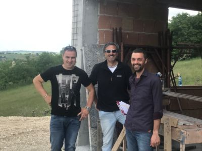 Our Team at a new building site in Le Marche