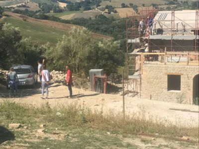Our Team Ready to Meet at our building site in Le Marche