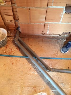 Piping and Conduit installed in a new house in Le Marche