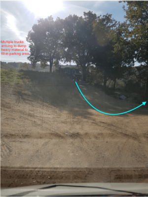 Place to Extend Parking Area in front of a new house being built in Le Marche, Italy