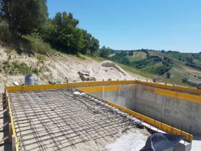 Ready to Pour Pool Surround at a new house being built in Le Marche, Italy