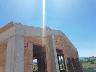 Roof Concrete Beams in Place of a house under construction in Le Marche