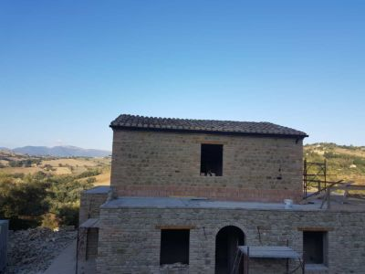 Roof Underlay In Place at a new house in Le Marche